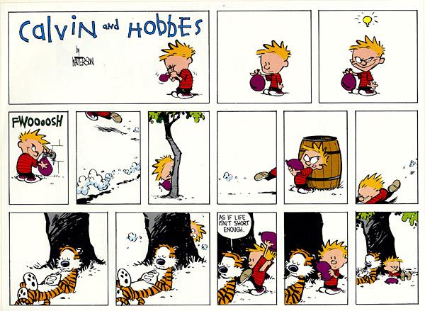Кальвин и Гоббс бывают иногда просто гениальны. настроение.  3.