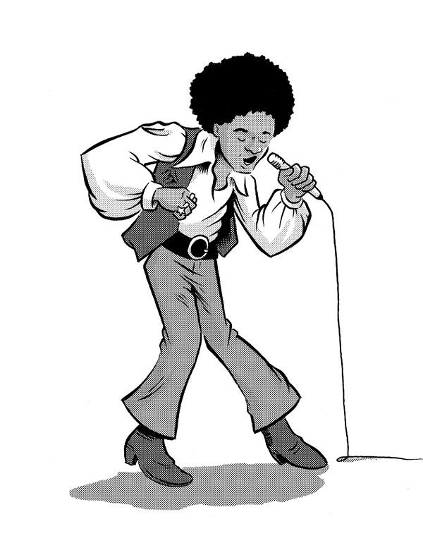 Michael Jackson Pinup Ben Towle Cartoonist Educator Hobo