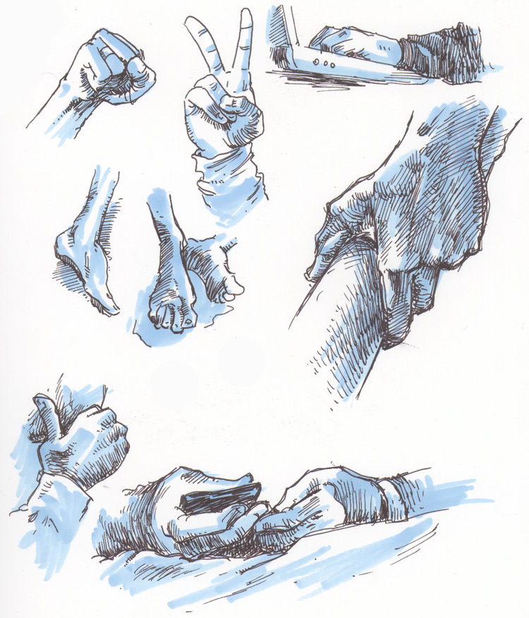 How to get better at drawing hands