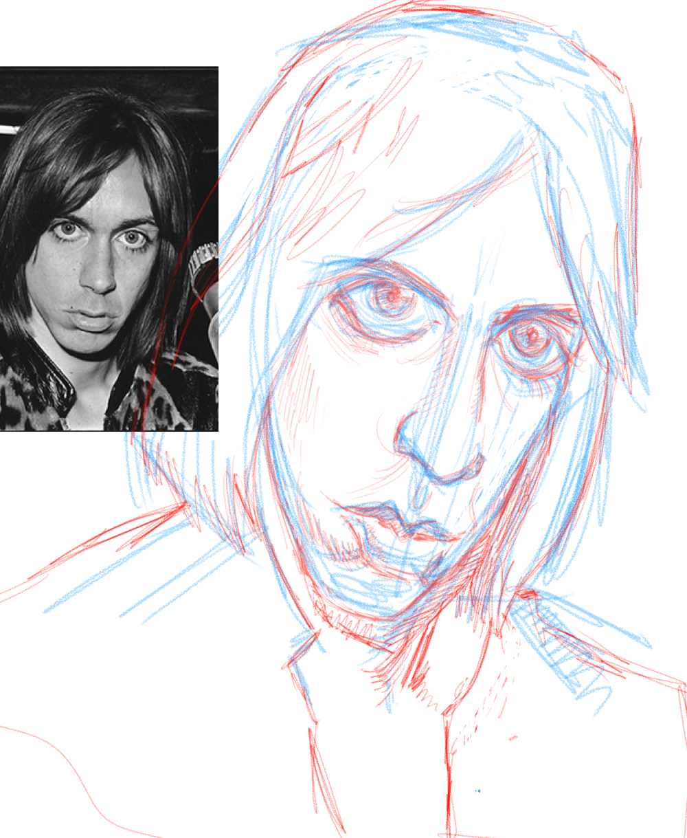 iggy pop sketch