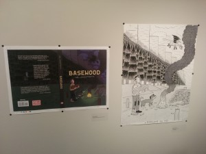 A cover proof and original from Alex Longstreth's Basewood.