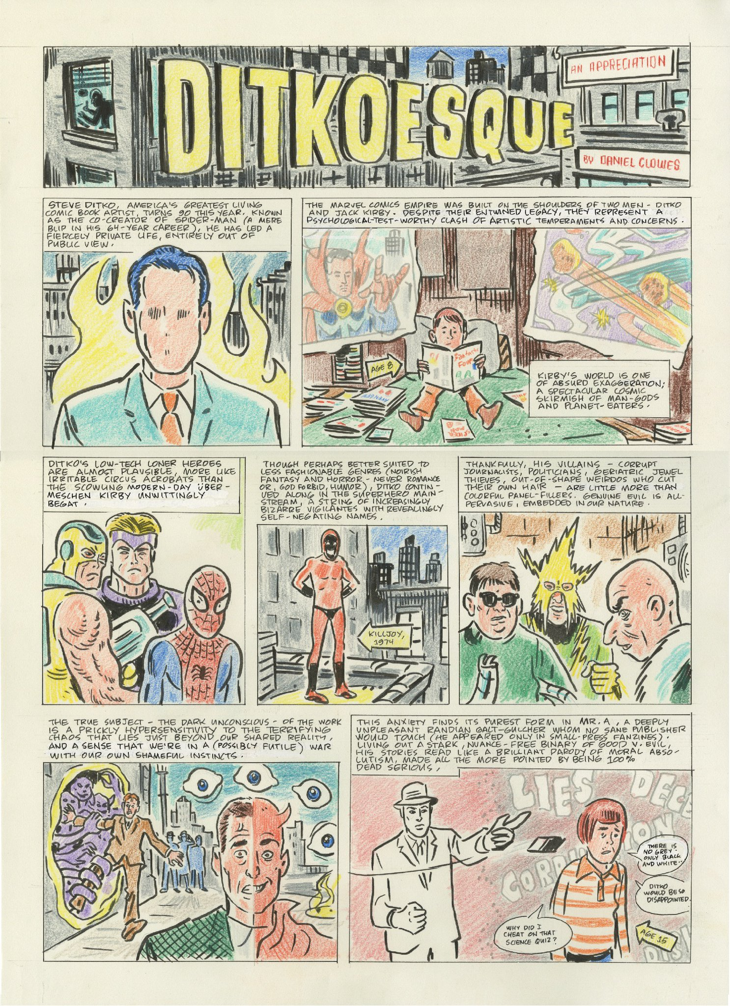 On the Influence of Steve Ditko » Ben Towle: Cartoonist